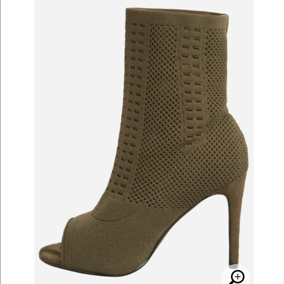 879265f4af92 Open Toe Heel Booties (Wide Width)