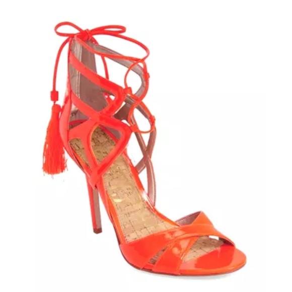 d89ba0015f84a8 New Sam Edelman Azela Strappy Patent Tassel Sandal NWT