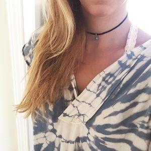 Jewelry - NWOT Turquoise dainty boho soft suede choker