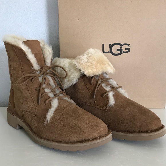 dc0a7794a77 Sale ❤️ UGG Chestnut Quincy Boots NWT