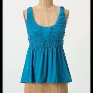 RIC RAC Anthropologie Tucked Empire Shirred Tank