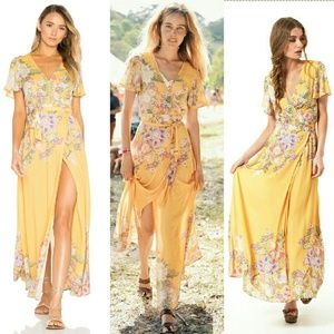 975482cc56ae Spell & The Gypsy Collective Dresses - New spell designs blue skies wrap  maxi sunflower &