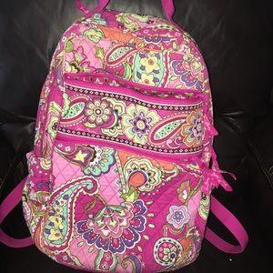 Vera Bradley Tech Backpack in Pink Swirl