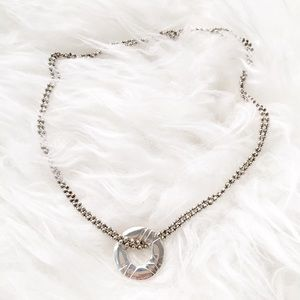 Jewelry - Silver Open Circle Necklace