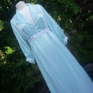 Vintage Dior green silk robe nightgown house dress
