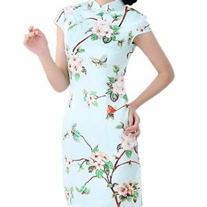 Dresses & Skirts - Cute QiPao Spring Floral Design