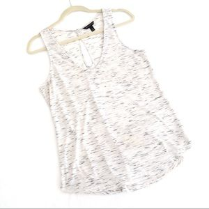 Banana Republic Printed White Tank Top