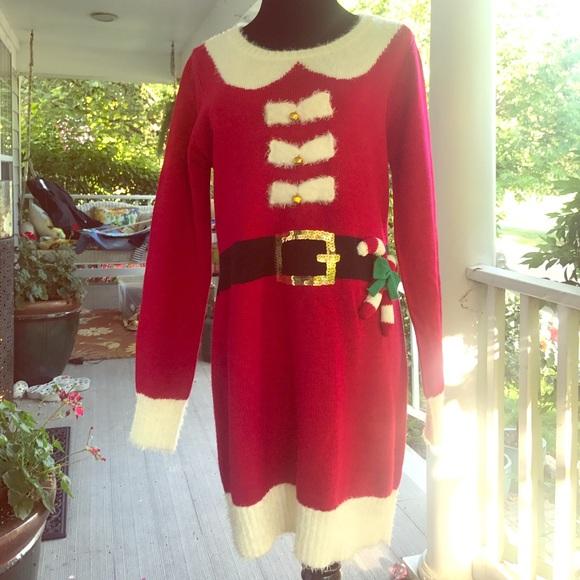 Macys Christmas Sweaters.Ugly Christmas Sweater Dress Macy S Large Juniors Nwt