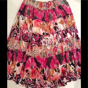 Cato Boho Layered Skirt EUC