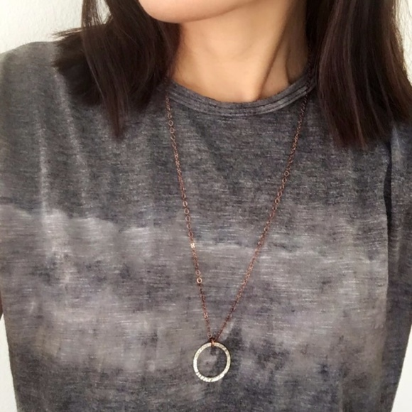 4735d51803d Handmade Mix It Up Silver Circle Copper Necklace