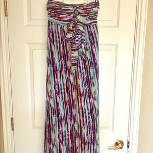 Patterned Striped Maxi Dress