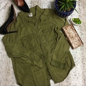 Studded H&M Military style shirt