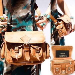 Handbags - Handmade Genuine Leather Multipocket Bag HM0037