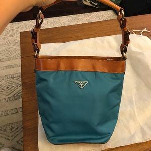 Prada cerulean Blue small bag