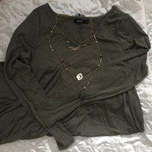 Dresses & Skirts - Olive tunic dress asymmetrical