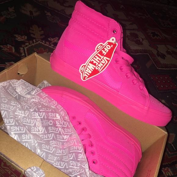 neon pink high top vans - OFF64% - www