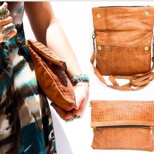 Handbags - Handwoven Genuine Leather Bag HM0035