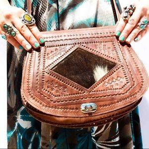 Handbags - Fur and Leather Handmade Bag HM0033
