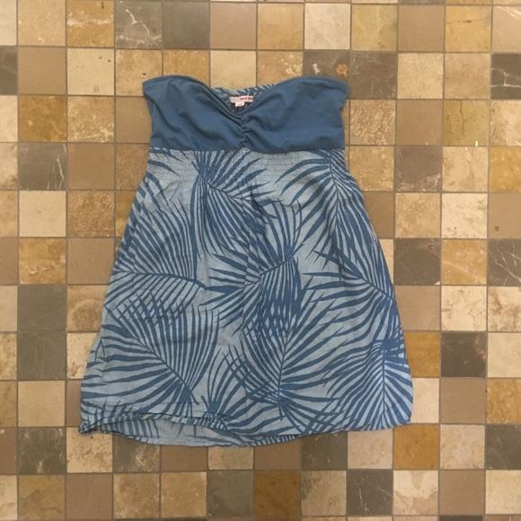tally weijl Dresses & Skirts - Strapless blue dress