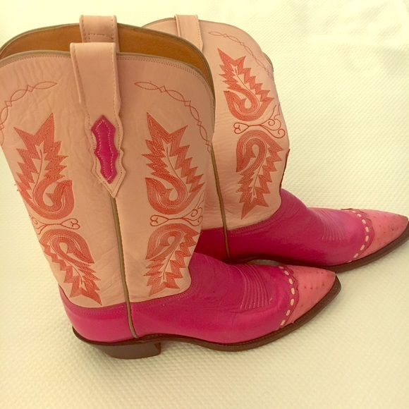 f59f6504d02 1883 Lucchese pink cowboy boots