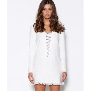 NWT Lace Up Fray Mini Dress by Ministry of Style