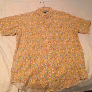 Ralph Lauren casual men's button down shirt