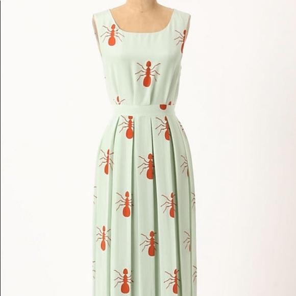 0f89b74366d0 Anthropologie Dresses & Skirts - Charlotte Taylor Red Fire Ants Silk Maxi  Dress