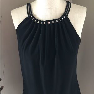 WHBM Halter with threaded hardware along neckline