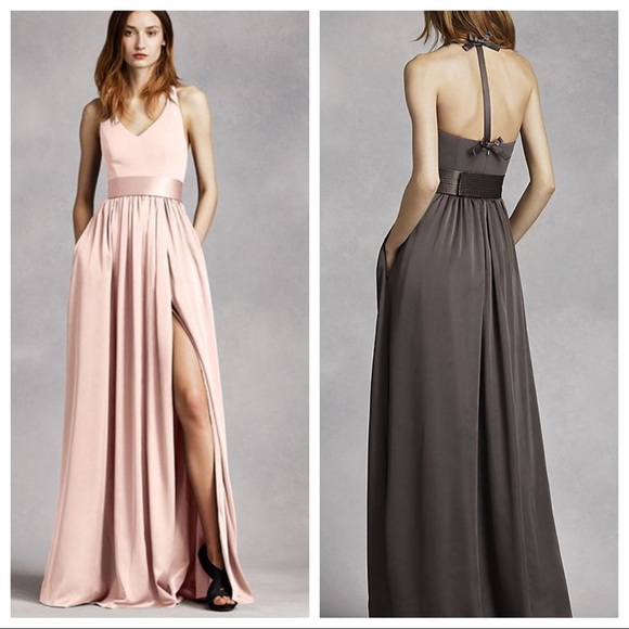 2b45491cb36a Vera Wang Blush Halter Gown with bow back. M_5990f2d67f0a053b3c130aeb