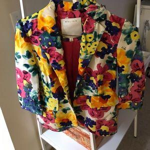 Jackets & Blazers - Floral Vintage Walter 3qt sleeve blazer
