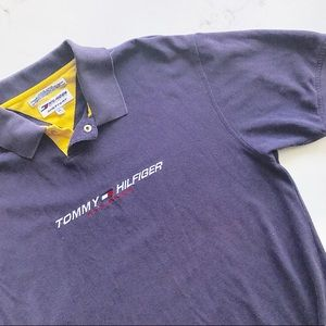 Vintage Tommy Hilfiger Spell Out Polo