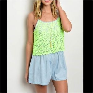 Pants -  Charity Item  Crochet Bodice Romper 