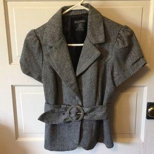 Jackets & Blazers - Short sleeve but warm tweed blazer