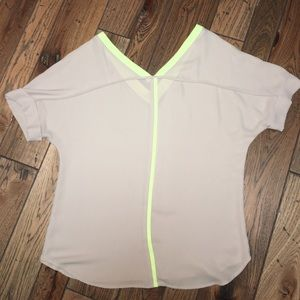 Neon and Tan Top