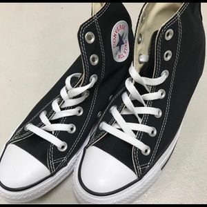 Brand New Converse Black/White High-Tops