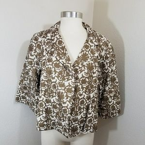 Awesome gold liz Claiborne jacket size xl xmas