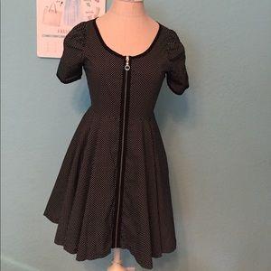 Black & white polka dots dress