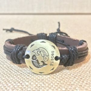Jewelry - FIRM Pisces Leather Adjustable Bracelet