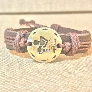 Jewelry - FIRM Aquarius Leather Adjustable Bracelet