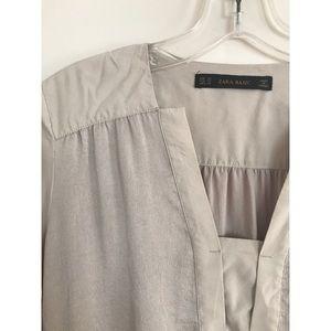 [Zara] Silky Belted Dress