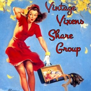 Proud member of the Vintage Vixens Share Group!