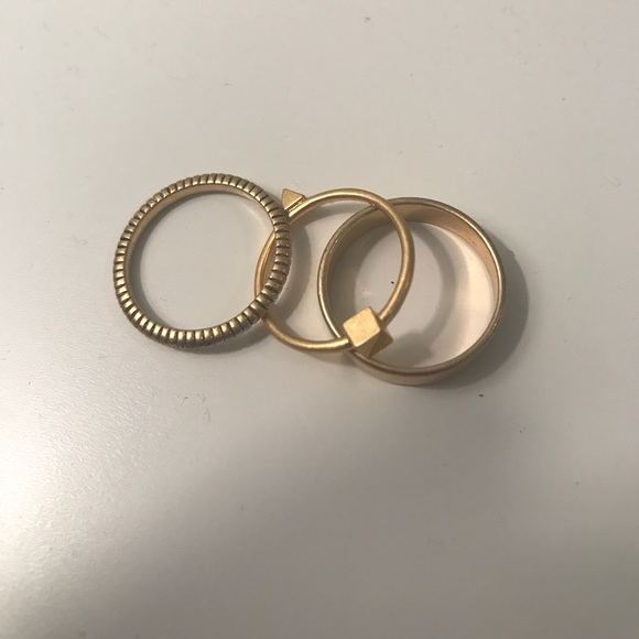 Madewell Jewelry - Three golden rings from Madewell