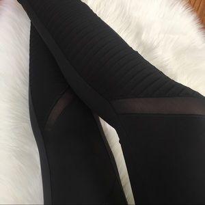 Moto Matte Yoga Pants Workout Leggings