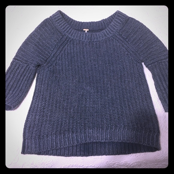 72% off Free People Sweaters - Free People Dusty Blue Sweater from ...