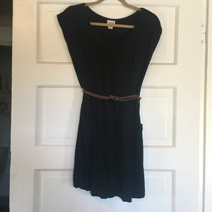 Dresses & Skirts - Mossimo Black Belted Dress