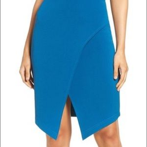 Dresses - Women's Adelyn Rae Halter Wrap Dress Blue Size Med