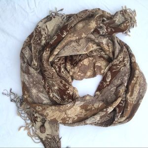 Accessories - Brown floral scarf