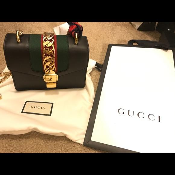 2245c3771183 Gucci Bags | Sylvie Leather Mini Chain Bag | Poshmark