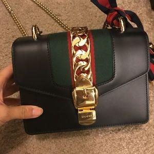 8ca267ffc83 Gucci Bags - Gucci Sylvie leather mini chain bag