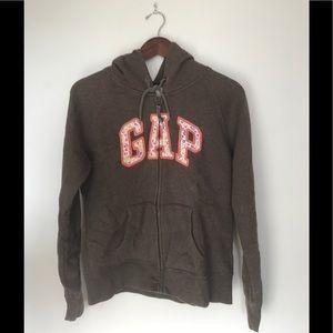 GAP Tops - Gap floral logo hoodie
